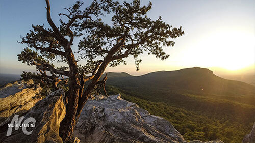 Hanging Rock State Park Landscape Shot at Sunset