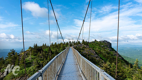 Mile High Swinging Bridge at Grandfather Mountains